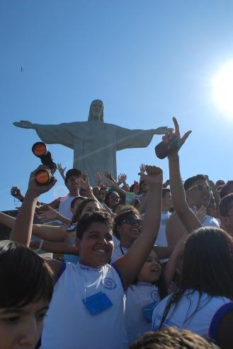 En el Corcovado, Río de Janeiro, Brasil.