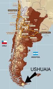 Localización de Ushuaia en el mapa.