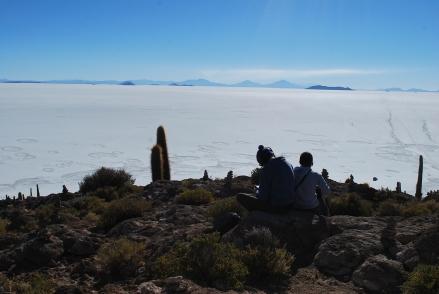 Salar de Uyuni, Bolivia. Vista desde la Isla del Pescado.