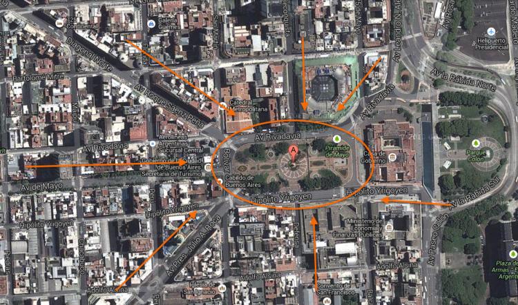 Todos los caminos llevan a Plaza de Mayo.