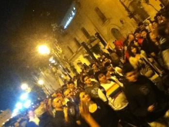 Y fue multitudinario. Partió desde la Plaza de Mayo.