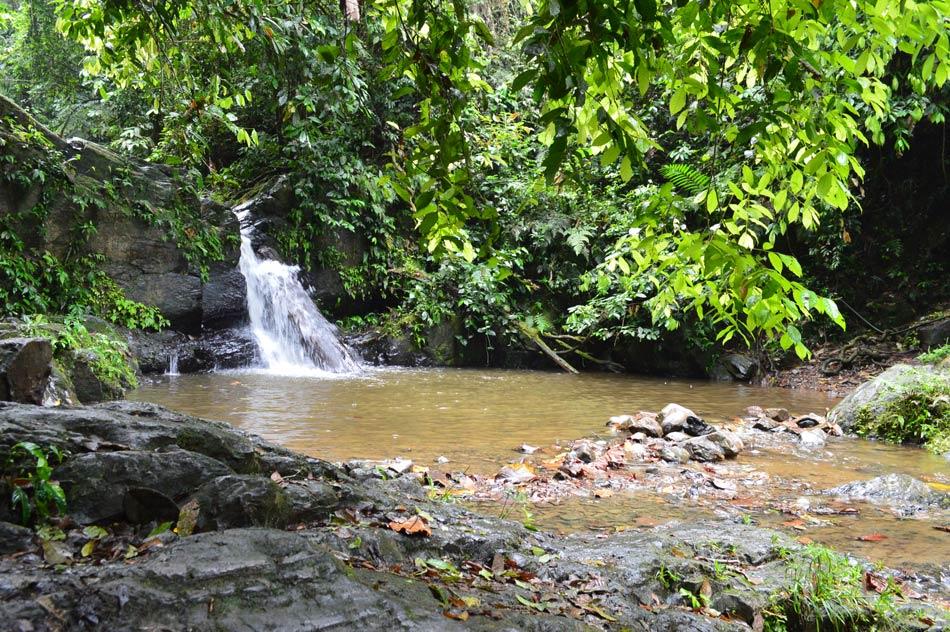 Primera de siete cascadas en la Ruta del Cacao. Foto: Sofía Bermúdez.